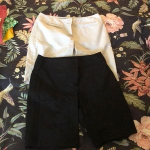 Lot of 2 pair Ann Taylor curvy Bermuda shorts